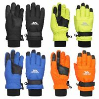 Trespass Ruri II Kids Ski Gloves Warm & Colourful in Orange Green Blue & Black