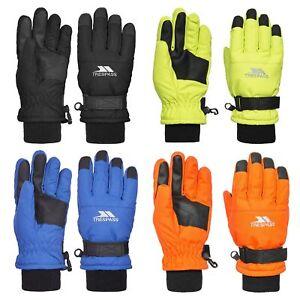 Trespass Ruri II Kids Ski Gloves Warm & Colourful in Orange Green Blue & Black