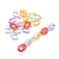 100Pcs Colorful Acrylic Chain Links Connectors DIY Jewelry Making Glasses ChaBA