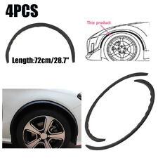 "4X  28.7"" Carbon Fiber Wheel Eyebrow Arch Trim Lips Fender Flares Protector 72CM"