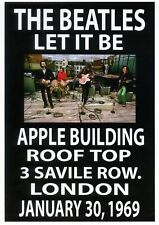 The Beatles 1969 - Concert VINTAGE BAND POSTERS Rock Travel Old Advert #ob