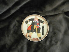 "Norman Rockwell 1984 Mini Plate ""BIG MOMENT"" Fifth Ltd Ed/ Hanger Intact/Great"