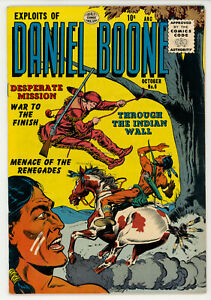 JERRY WEIST ESTATE: EXPLOITS OF DANIEL BOONE #6 (Quality 1956) VF condition! NR