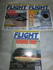 **LOOK** 3 x Superb FLIGHT INTERNATIONAL Magazines & Learjet Cutaway 1995/6/2001