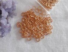 600pcs. Gold Plated 5mm Open Jump Rings Findings Jewelry Making