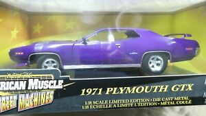 American Muscle ERTL 1971 Plymouth GTX Purple 1/18 Hobby Ed. 1 of 2500 MIB