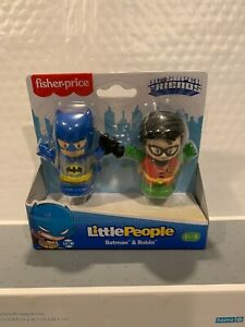 FISHER PRICE LITTLE PEOPLE DC SUPER FRIENDS BATMAN AND ROBIN HARD TO FIND