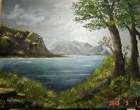 ORIGINAL LANDSCAPE OIL PAINTING DONE ON A 16X20 STRETCHED CANVAS
