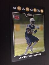2008 Topps Chrome #TC265 - Antoine Cason - San Diego Chargers (RC) in Top Loader