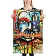 NEO Street Art Graffiti Face Print Urban Abstract Modern Poster Star Wall Deco