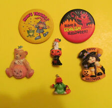 New listing Halloween Brooch and Pinback Mixed Lot of 6 pcs Some vintage