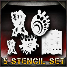 """Free Hand Set"" Airbrush Stencil Template Airsick"