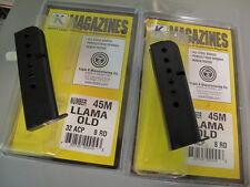 2-PACK LLAMA OLD .32 MAGAZINE Mag Mags USA MADE 32 7RD LAMA Mugica Tauler