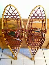 "Vintage Iverson Snow Shoes,12"" By 35"",Michigan Snow Shoes wooden snowshoes"