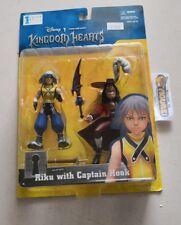 Disney/Square KINGDOM HEARTS, Peter Pan Captain HOOK & RIKU action figures, New