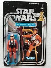 KENNER 1979 LUKE X WING ON  STAR WARS 21 BACK CARD NEW HOPE DEATH STAR RUN
