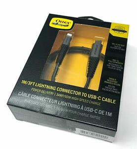 OTTERBOX Rugged Strong USB-C to Lightning Cable for Apple iPhone/iPad 1m/2m
