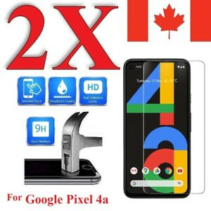 """Premium Screen Protector Cover for Google Pixel 4a (5.8"""") (2 Pack)"""