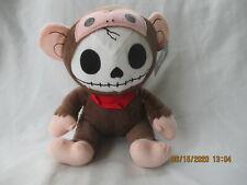 "FurryBones Skeleton Monkey Stuffed Plush 8.5"" 2012 Fiesta BUN BUN"