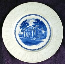 Wedgwood Amherst College Blue President'S House Plate Excellent