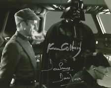 Dave Prowse / Ken Colley Star Wars Piett / Vader hand signed photo UACC COA