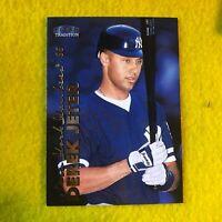 YANKEES , DEREK JETER , 2000 FLEER TRADITION MLB BASEBALL CARD 5 MINT
