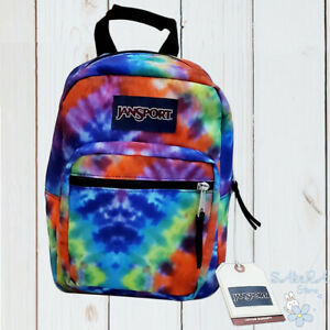 NWT JANSPORT AUTHENTIC CUTE WOMENS TIE-DYE BIG BREAK COLLECTION LUNCH BAG