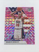 2019-20 Panini Mosaic Team USA Pink Camo Prizm #252 Charles Barkley