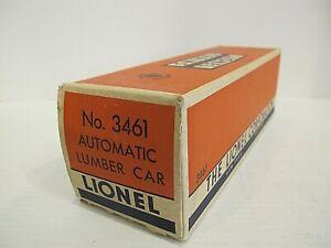 LIONEL 3461 OPERATING LOG CAR Original BOX/ OB with INSERT~ Really nice original
