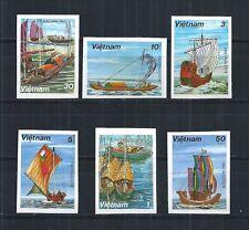 VIETNAM 1983 MiNr: 1285 U - 1290 U IMPERF ** SAILBOATS SCHIFFE SHIP
