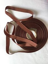 Reel of old Scottish grosgrain ribbon in brown colour called Burnt Almond 1.5cm