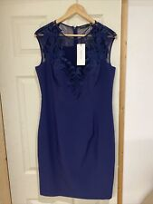 Karen Millen Navy Pencil Dress Size 16