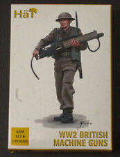Hat 1:72 scale WW2 British Machine Gun plastic model figures
