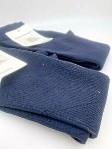 2 pr Men's Compression Socks SAMPLES 8-15mmHg - Diamond Pattern- Sz 10-13