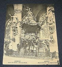 Antique Brussels Bruxelles Church St Gudule-The Pulpit of Truth Postcard-Unused