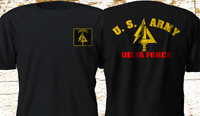 New Delta force Special US Army Navy Seals Black T-Shirt S-4XL