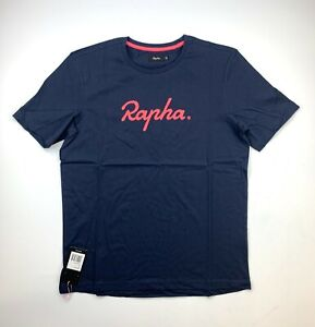 RAPHA Logo Tee Shirt Navy / Pink Men's XL New