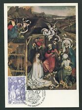 BELGIEN MK 1976 WEIHNACHTEN CHRISTMAS NATALE MAXIMUMKARTE MAXIMUM CARD MC d6582