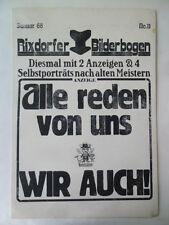 Uwe Bremer, ali schindehütte, Johannes vennekamp, Arno foresta Schmidt, rixdorfer,