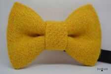 Mens bow tie - Mustard Harris Tweed - Wool bow tie