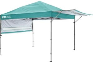 Canopy 10 ft. x 17 ft. Straight Leg in Turquoise/Aqua with Double Side Walls