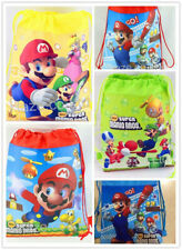 1pc Super Mario Non-woven Children Swim Drawstring Bag utility Cute Gift