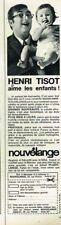 L- Publicité Advertising 1967 Les Couches pour bébé Nouvelange avec Henri Tisot