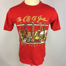 Vintage Minty 80s New Orleans Jazz Music Saxophone Drums Piano Violin T Shirt