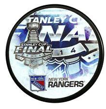 2014 NEW YORK RANGERS STANLEY CUP FINAL PUCK KREIDER LUNDQVIST RARE