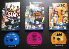 LOT 3 JEUX PLAYSTATION 2 PS2 LES SIMS + PERMIS DE SORTIR + LES URBZ IN THE CITY