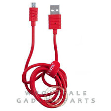 iWalk Micro USB 3.2ft Charging Cable - Red Cord Transfer Connector