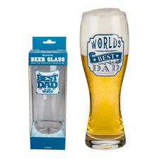 Best Dad Beer Glass Pint Cider Lager Drinking Gift Bar Pub Fathers Day Present