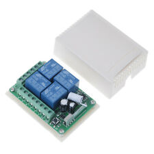 DC 12V 10A 433MHz 4CH Wireless Relay RF Remote Control Switch Receiv  2Y