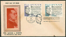 1967 Philippines MANUEL L. QUEZON 6th PRESIDENTIAL GEM SERIES First Day Cover A